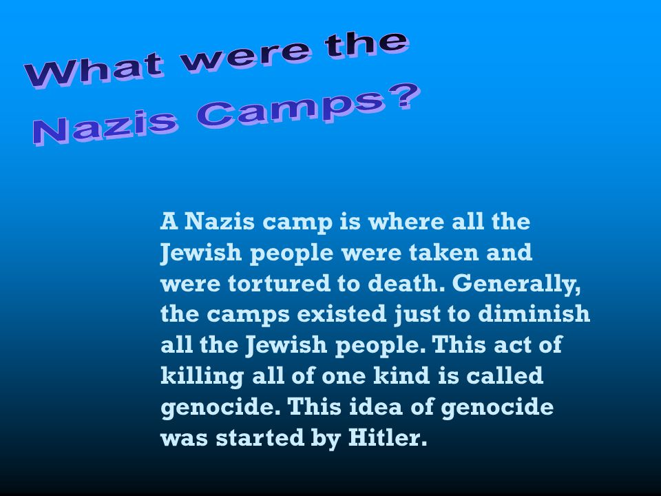 What were the Nazis Camps