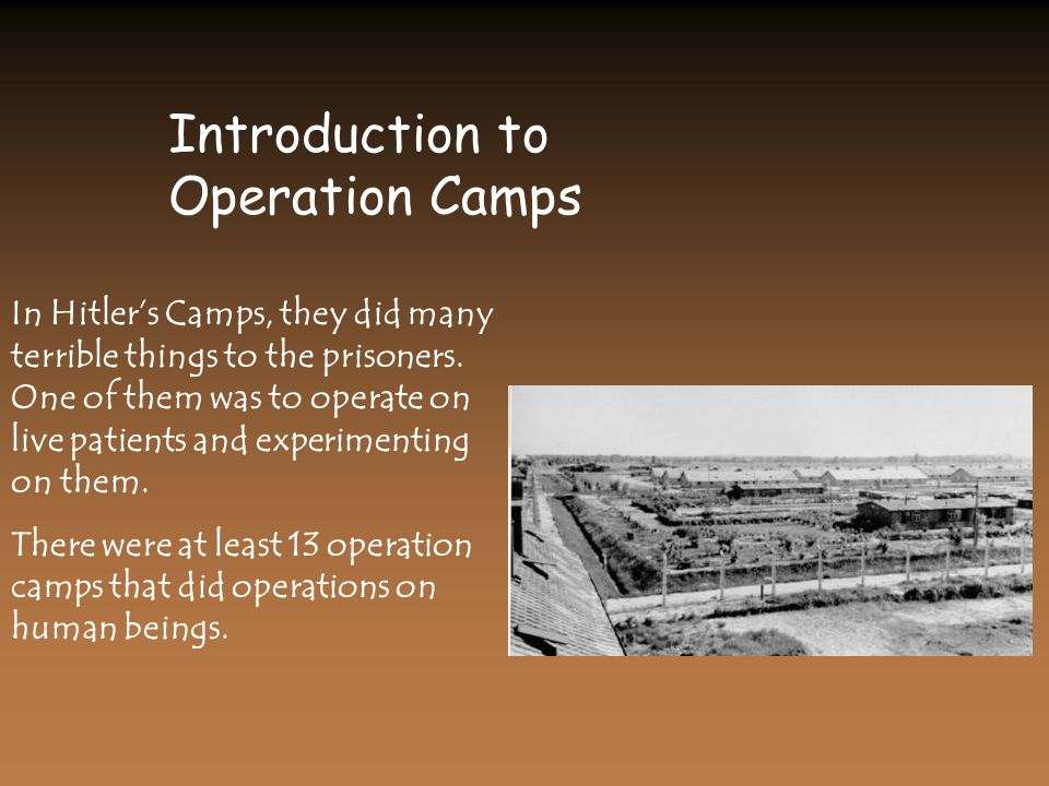 Introduction to Operation Camps