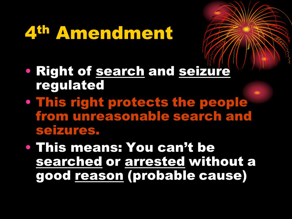 4th Amendment Right of search and seizure regulated