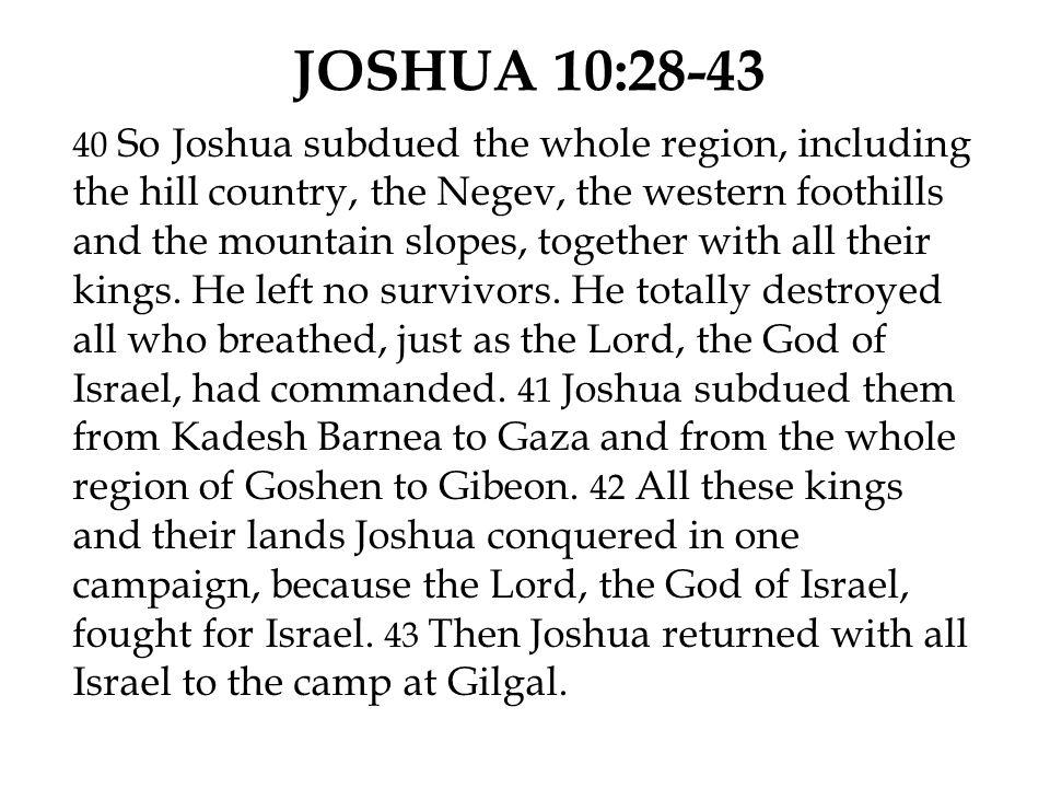JOSHUA 10:28-43