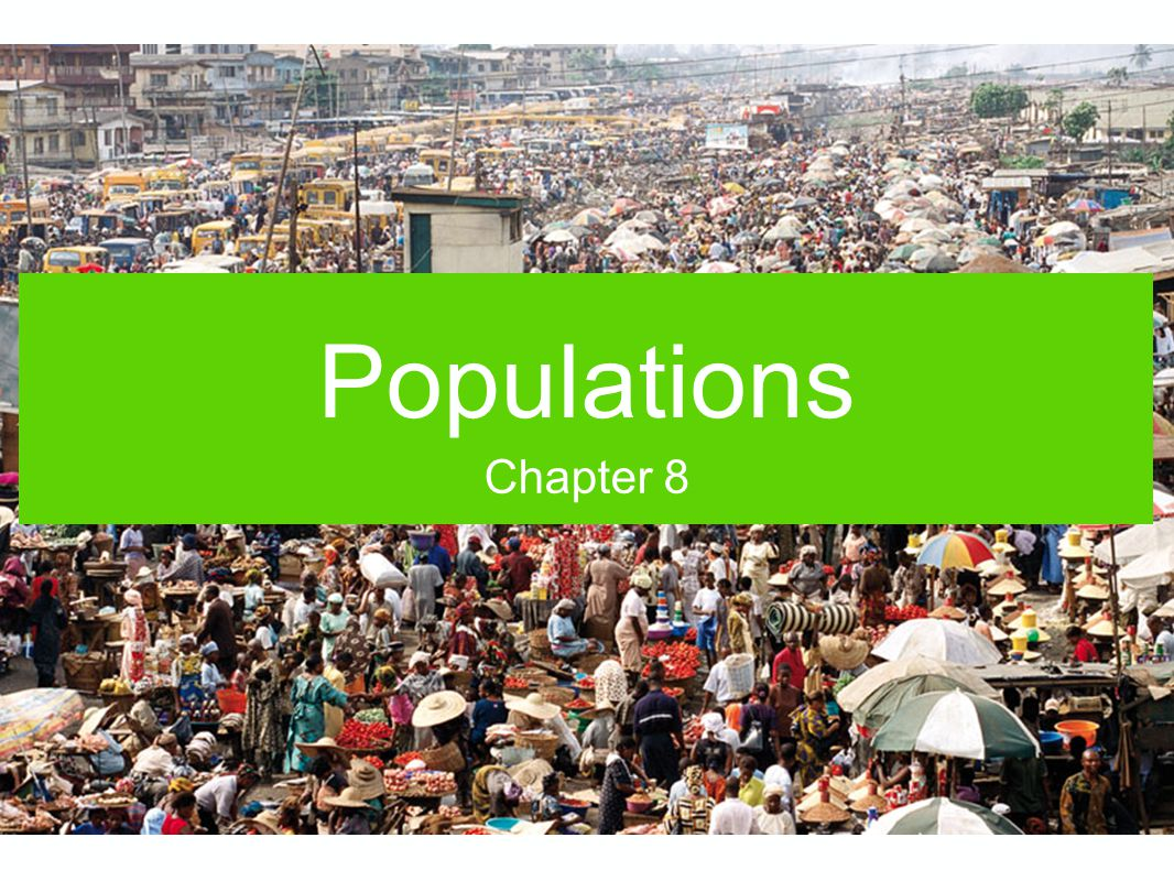 Populations Chapter 8