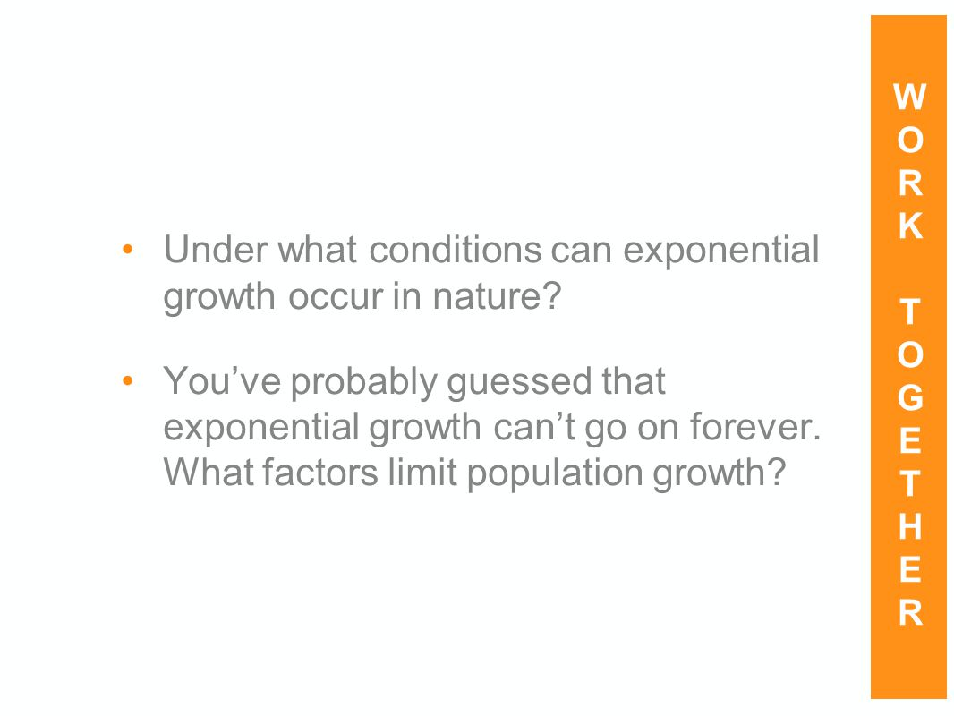 Under what conditions can exponential growth occur in nature