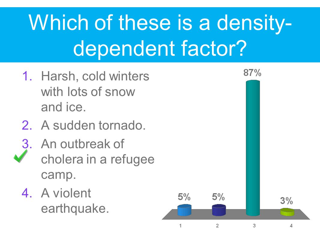 Which of these is a density-dependent factor