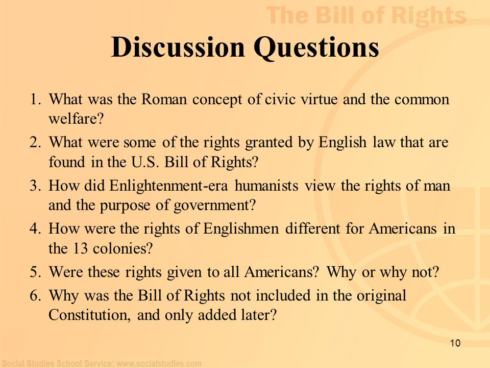 Discussion Questions What was the Roman concept of civic virtue and the common welfare