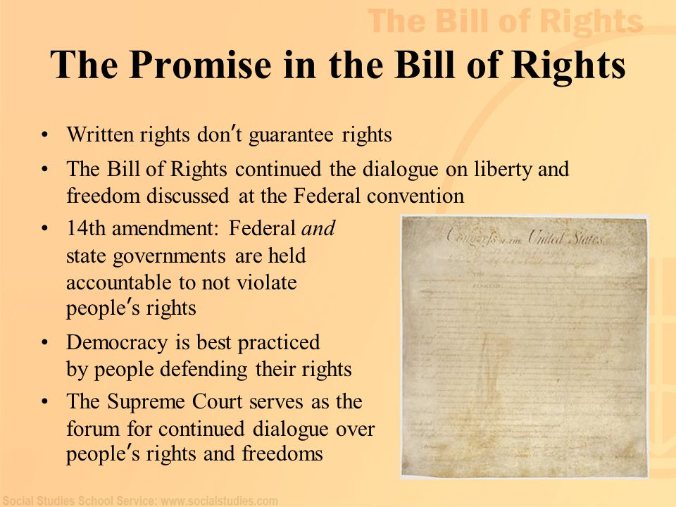The Promise in the Bill of Rights