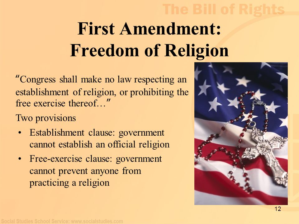 First Amendment: Freedom of Religion