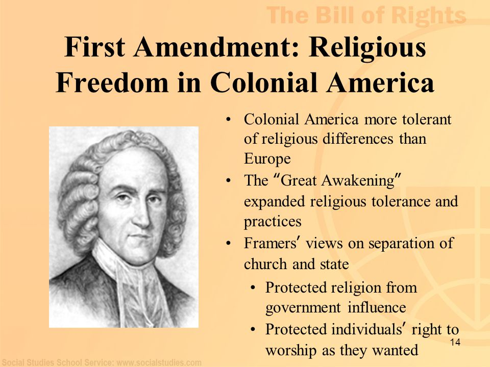 First Amendment: Religious Freedom in Colonial America