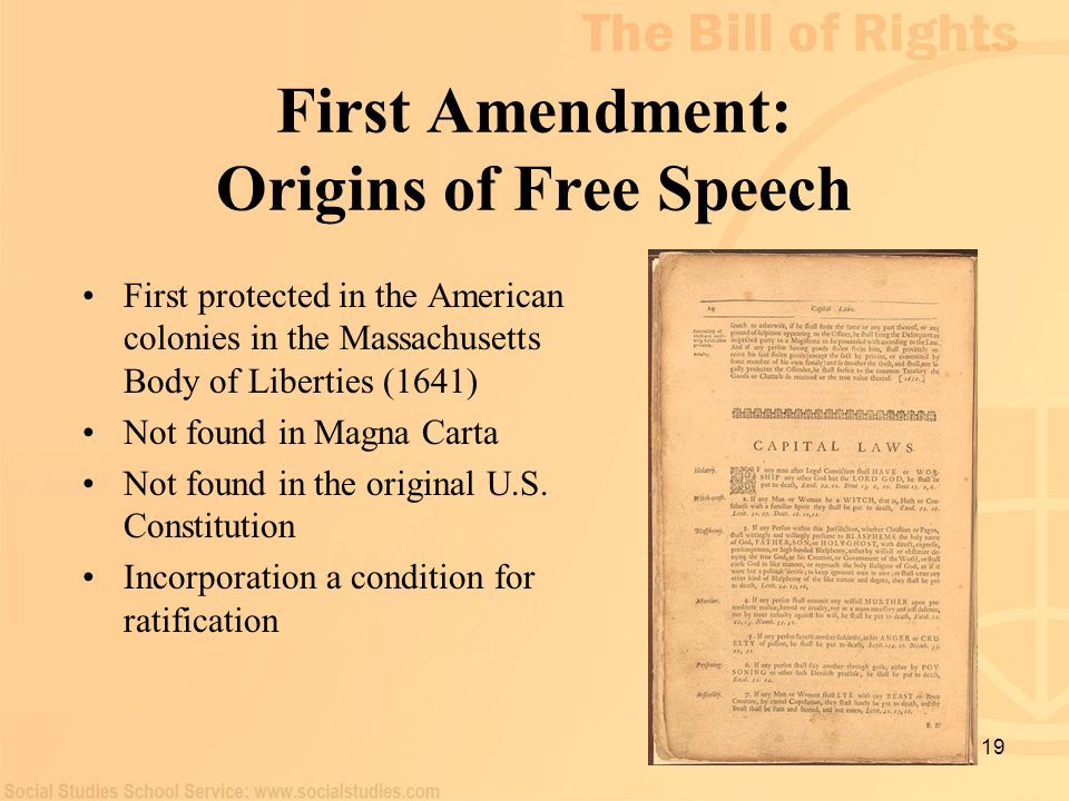 First Amendment: Origins of Free Speech
