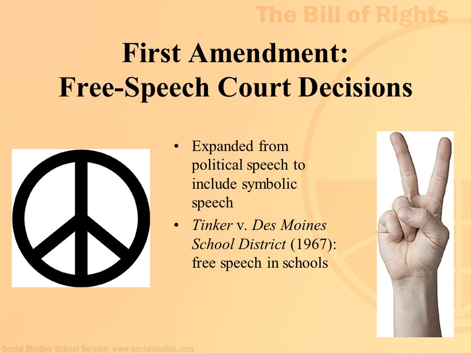 First Amendment: Free-Speech Court Decisions