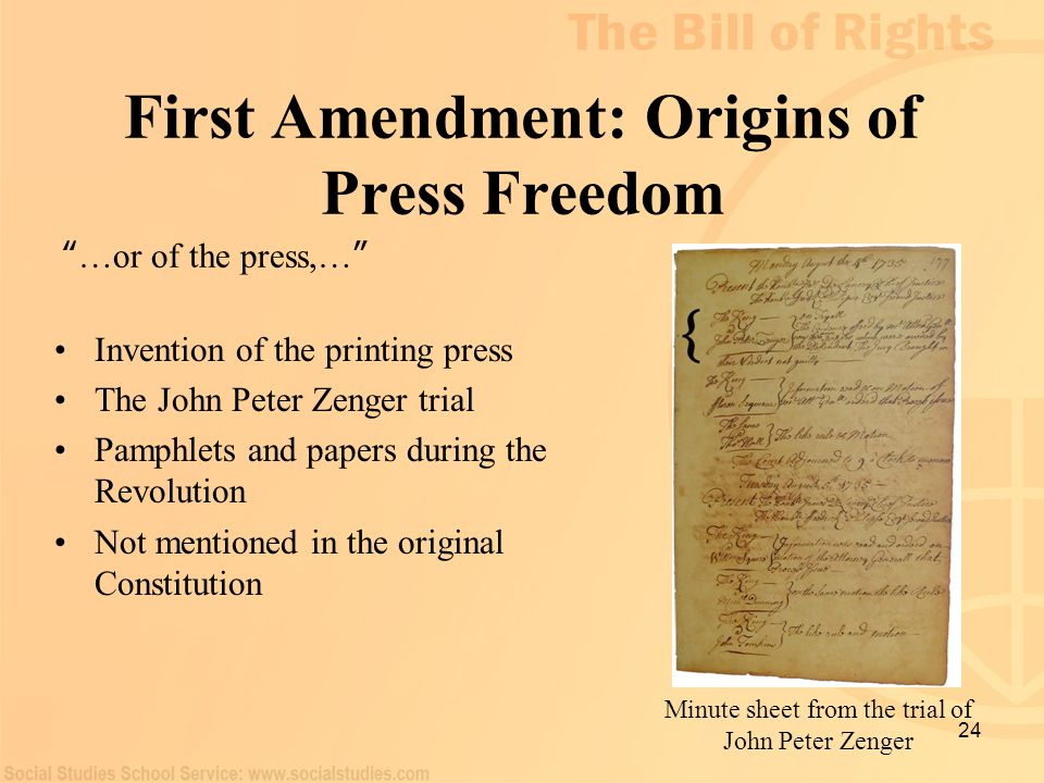 First Amendment: Origins of Press Freedom