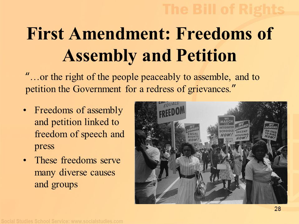 First Amendment: Freedoms of Assembly and Petition