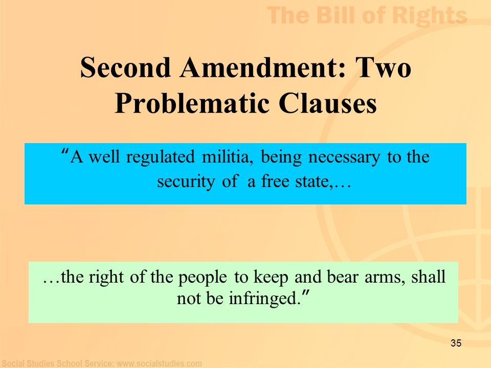 Second Amendment: Two Problematic Clauses