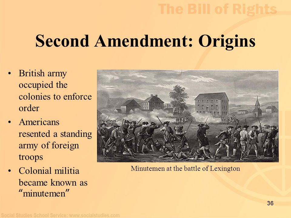Second Amendment: Origins