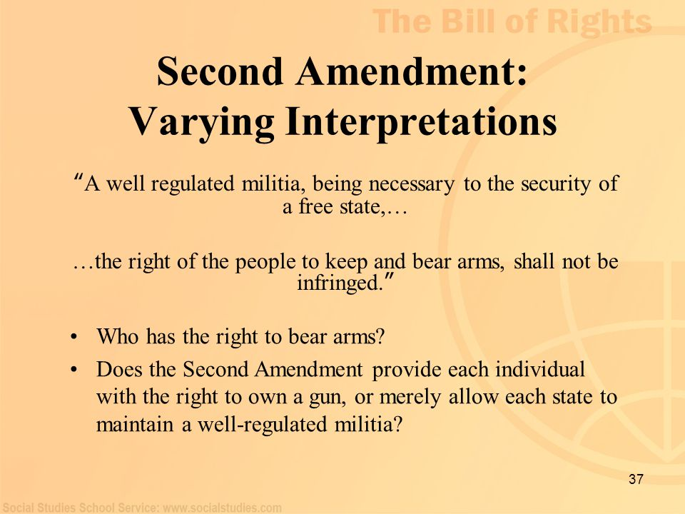 Second Amendment: Varying Interpretations