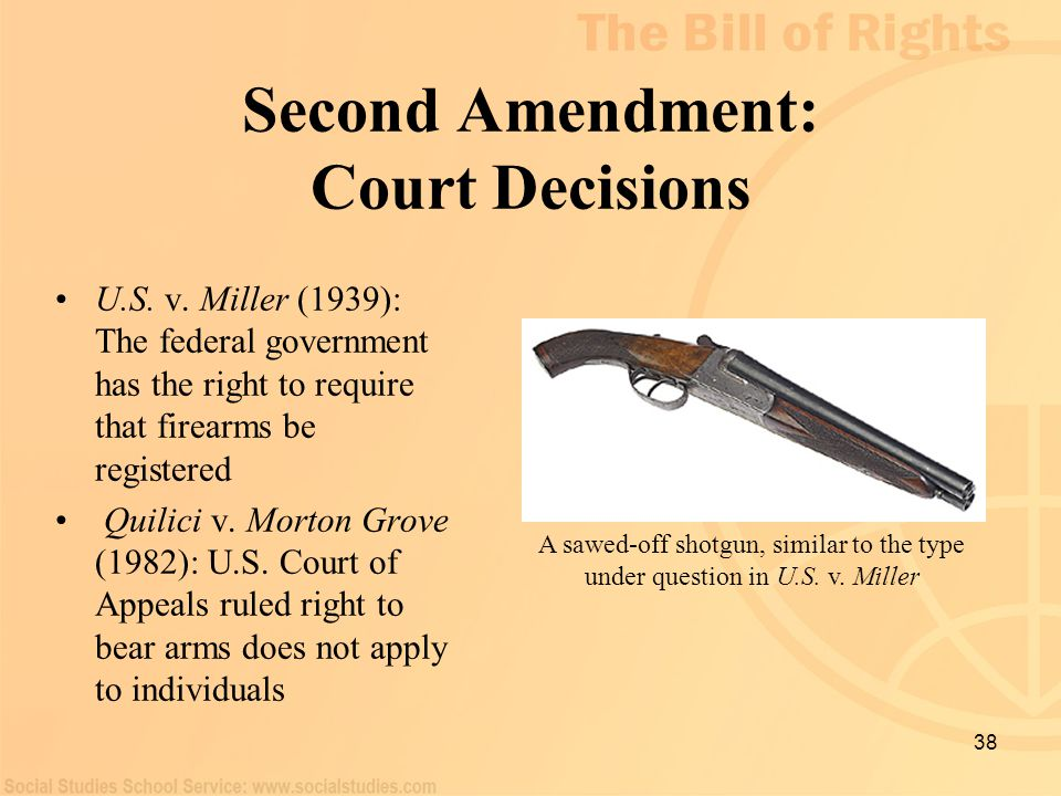 Second Amendment: Court Decisions