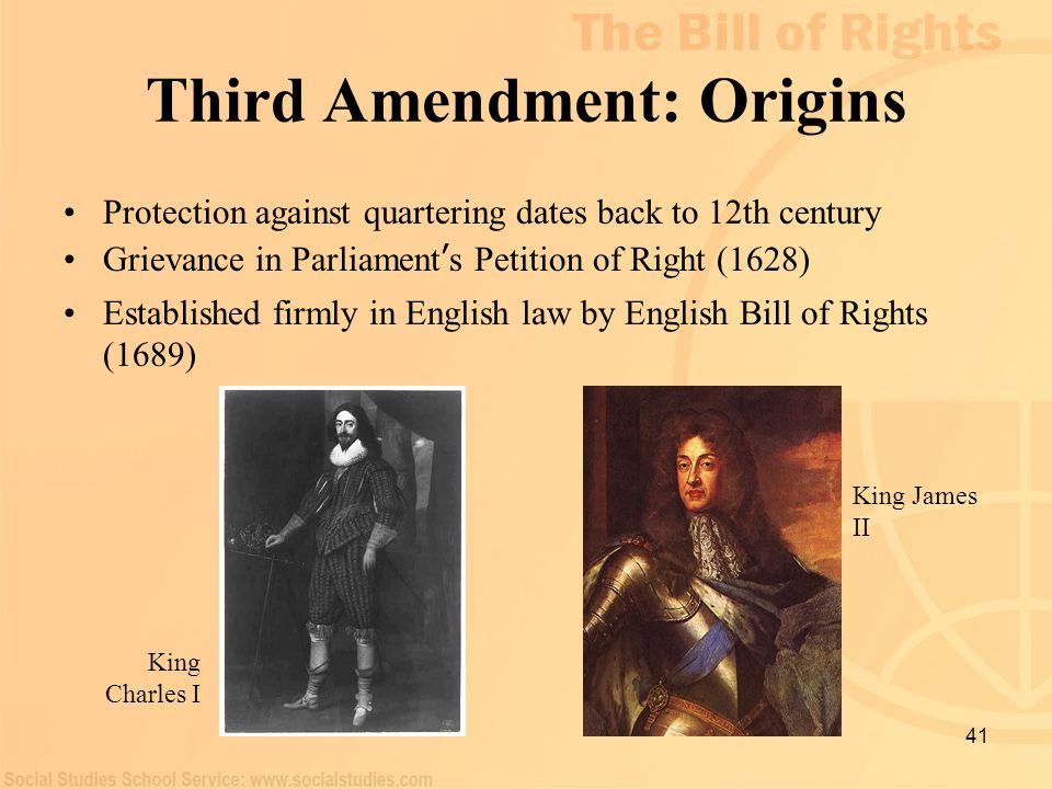 Third Amendment: Origins