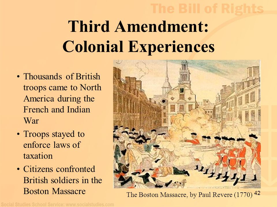 Third Amendment: Colonial Experiences