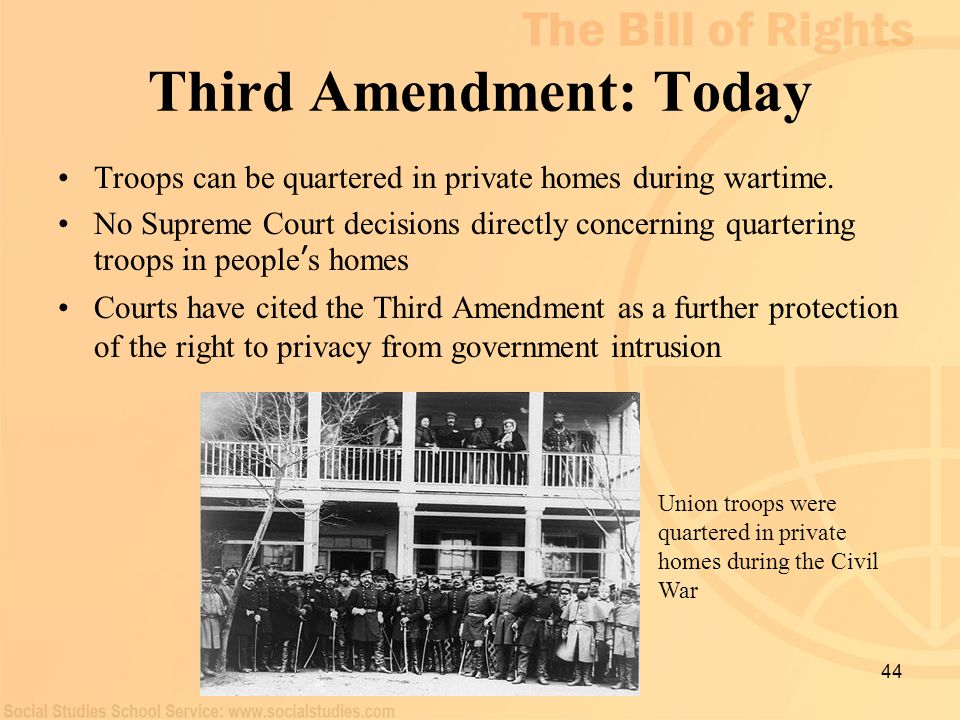 Third Amendment: Today