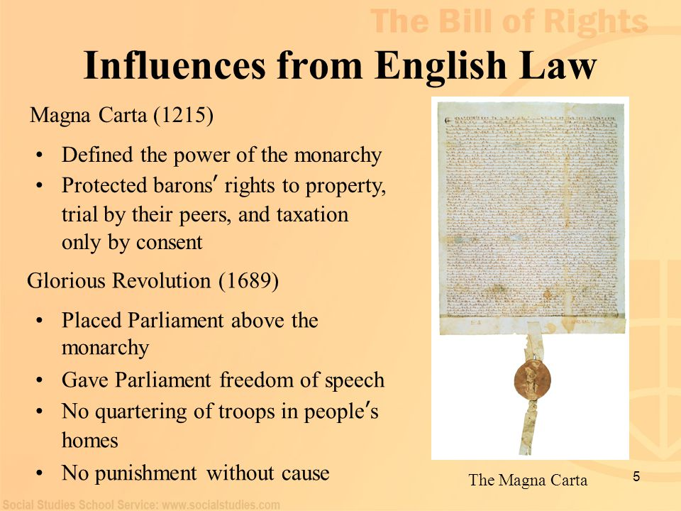 Influences from English Law