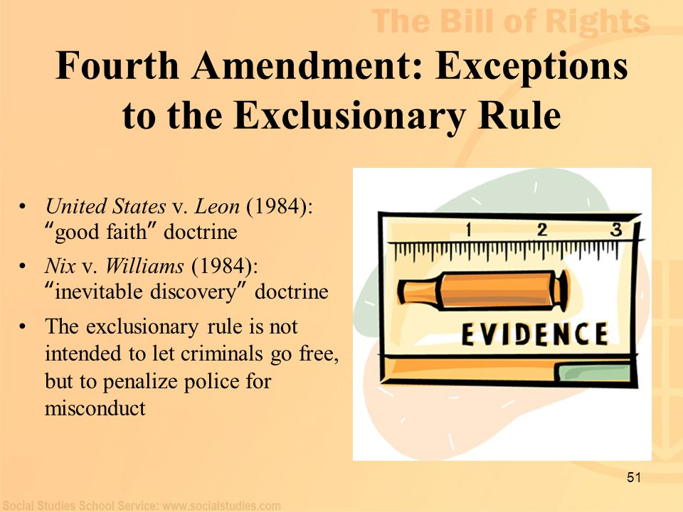 Fourth Amendment: Exceptions to the Exclusionary Rule