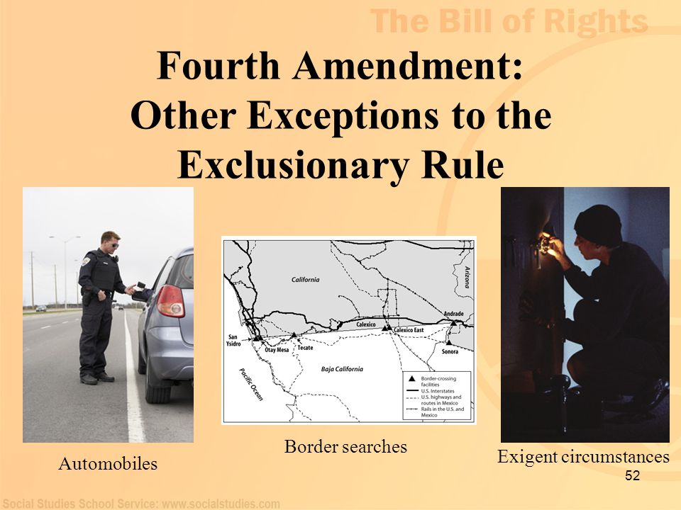 Fourth Amendment: Other Exceptions to the Exclusionary Rule