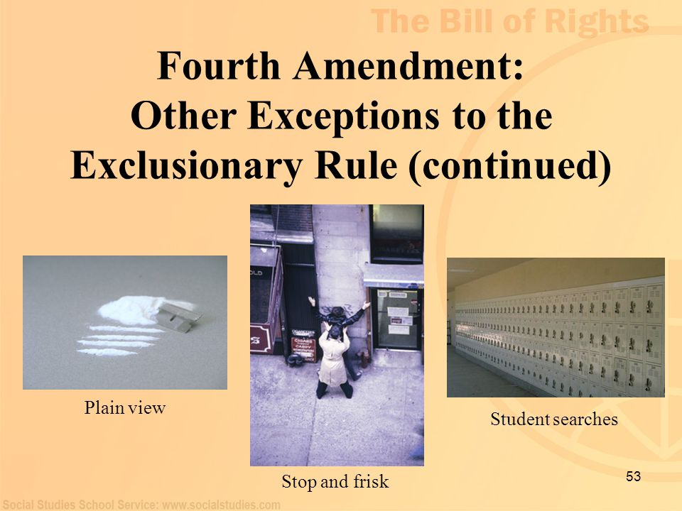 Fourth Amendment: Other Exceptions to the Exclusionary Rule (continued)