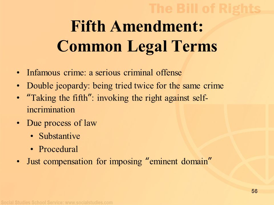 Fifth Amendment: Common Legal Terms