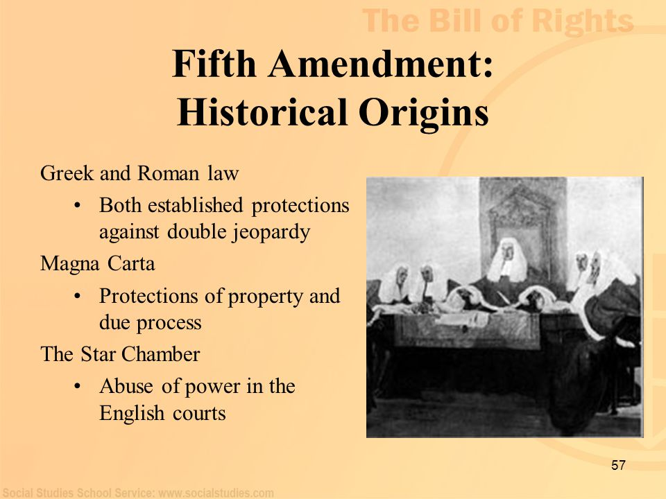 Fifth Amendment: Historical Origins