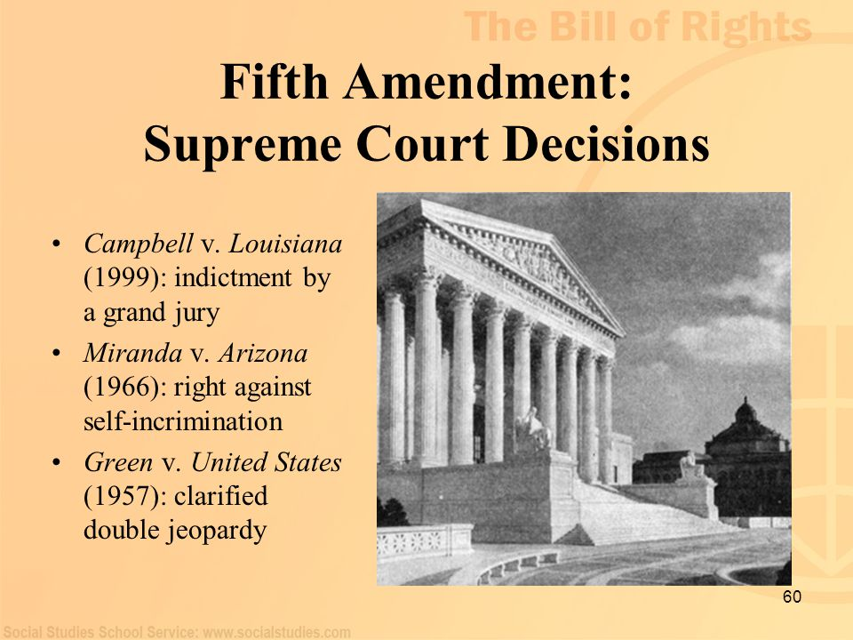 Fifth Amendment: Supreme Court Decisions