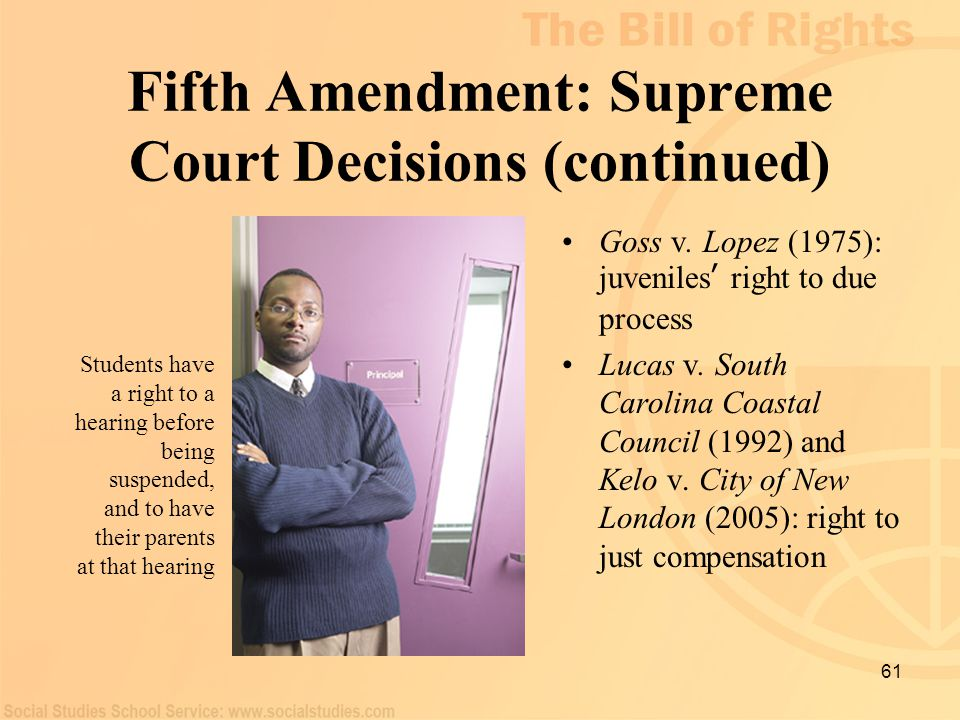 Fifth Amendment: Supreme Court Decisions (continued)