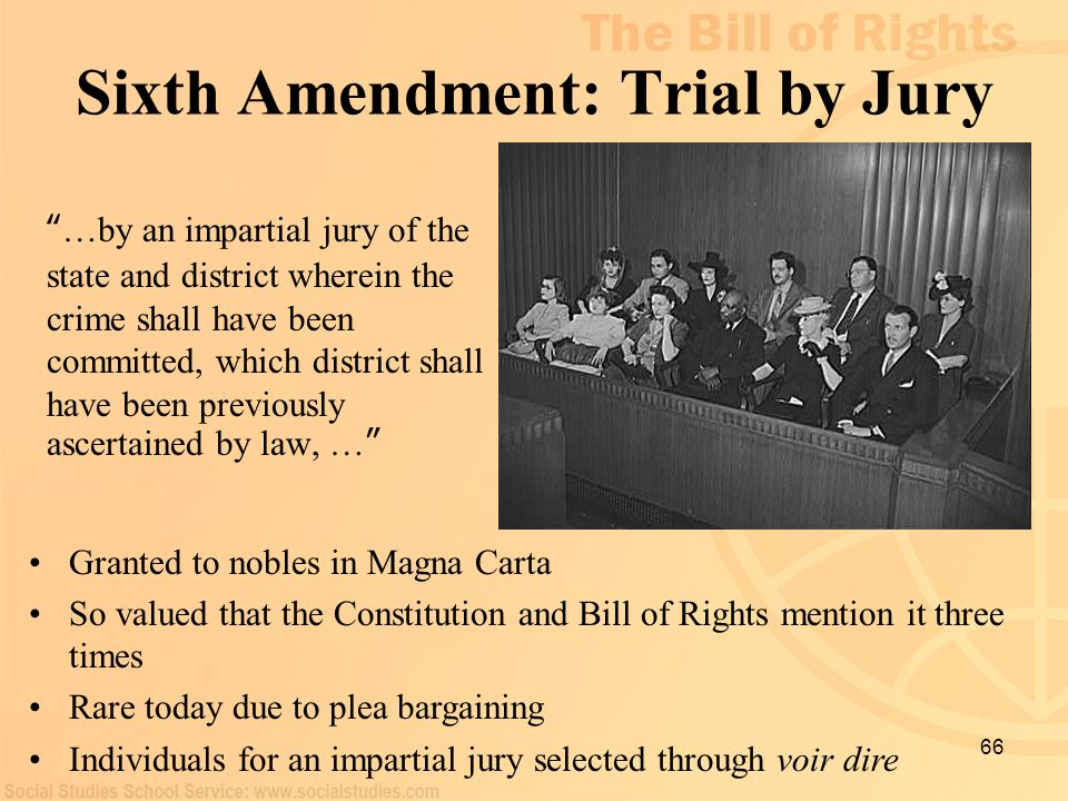 Sixth Amendment: Trial by Jury