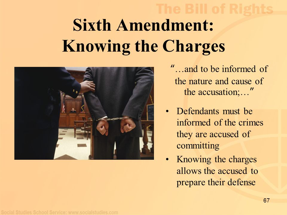 Sixth Amendment: Knowing the Charges