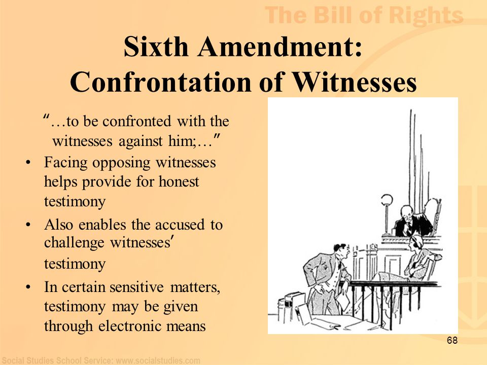Sixth Amendment: Confrontation of Witnesses