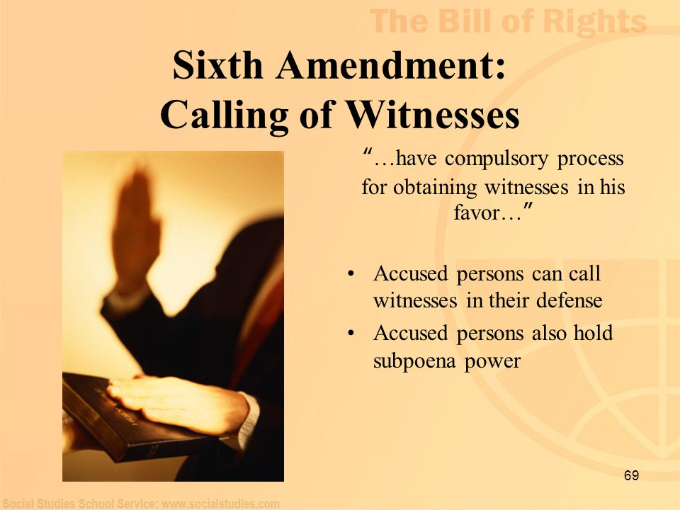 Sixth Amendment: Calling of Witnesses
