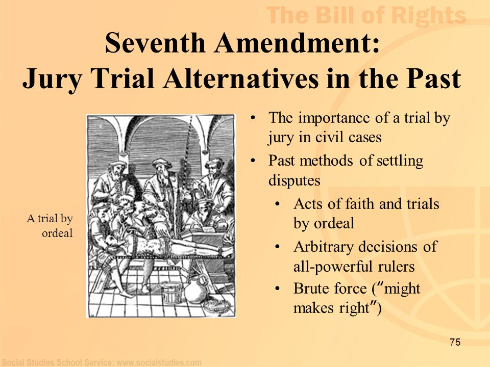 Seventh Amendment: Jury Trial Alternatives in the Past