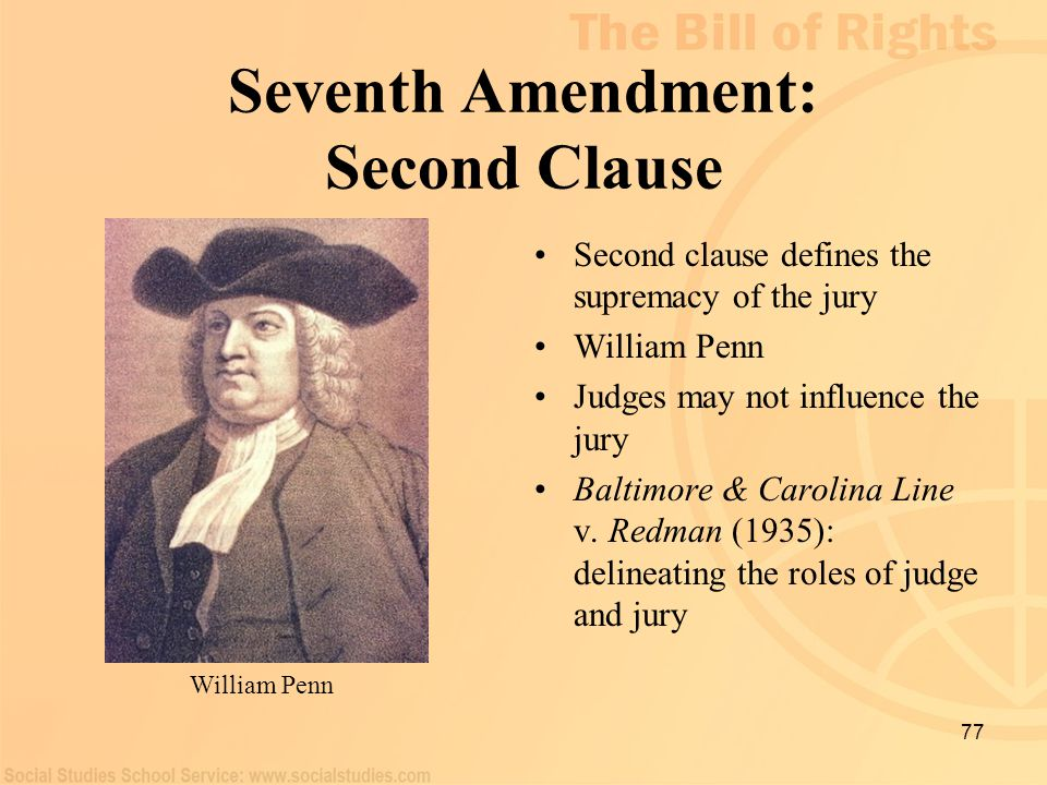 Seventh Amendment: Second Clause