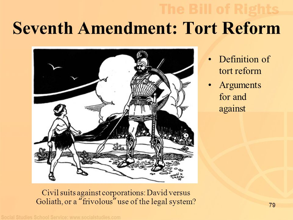 Seventh Amendment: Tort Reform