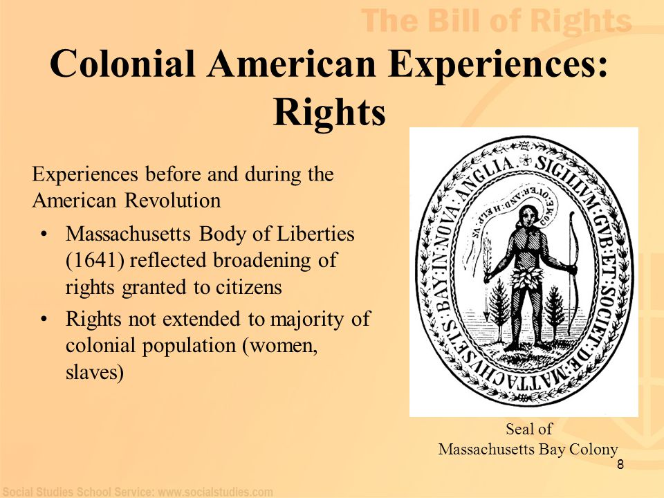 Colonial American Experiences: Rights