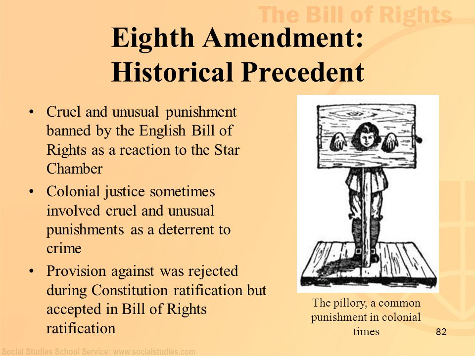 Eighth Amendment: Historical Precedent