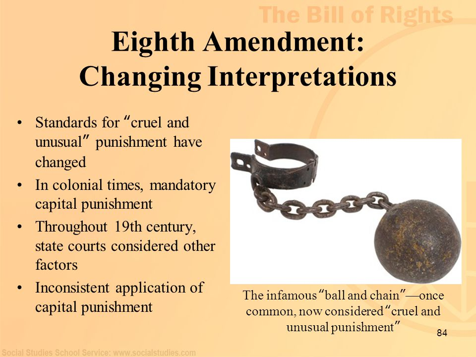 Eighth Amendment: Changing Interpretations