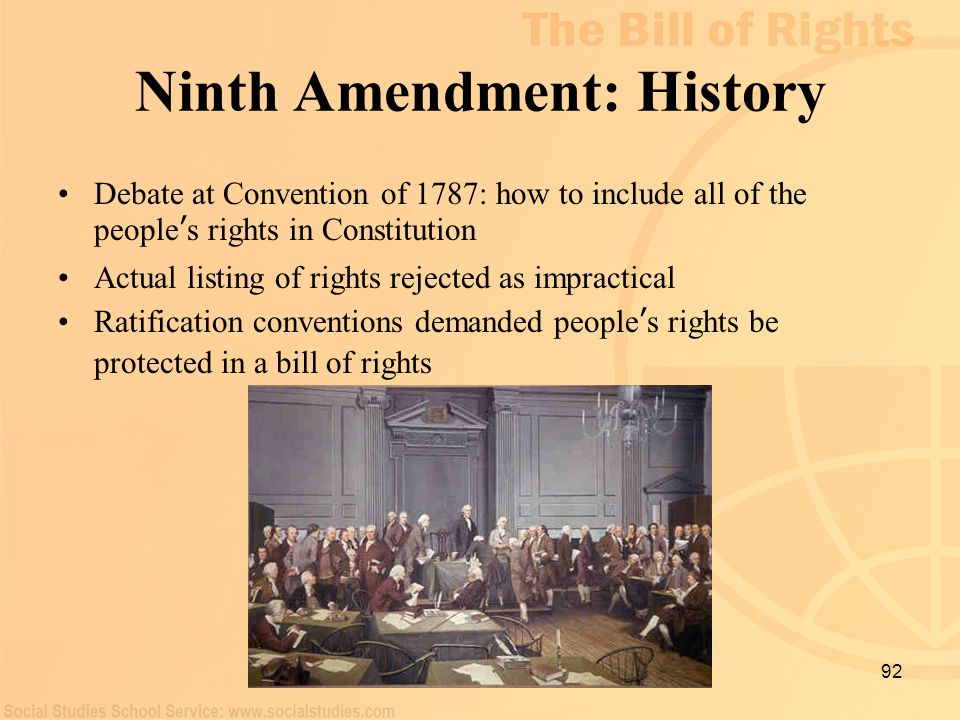 Ninth Amendment: History