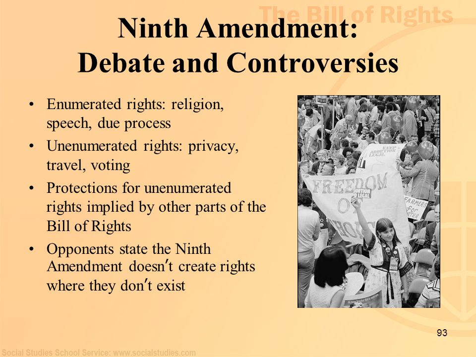 Ninth Amendment: Debate and Controversies
