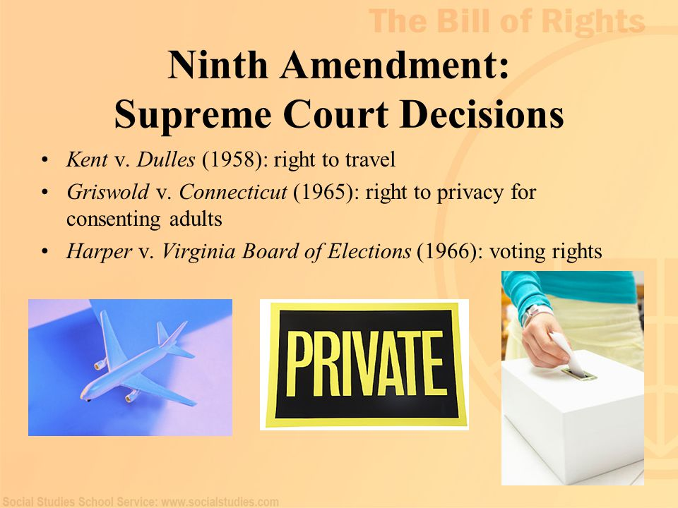 Ninth Amendment: Supreme Court Decisions