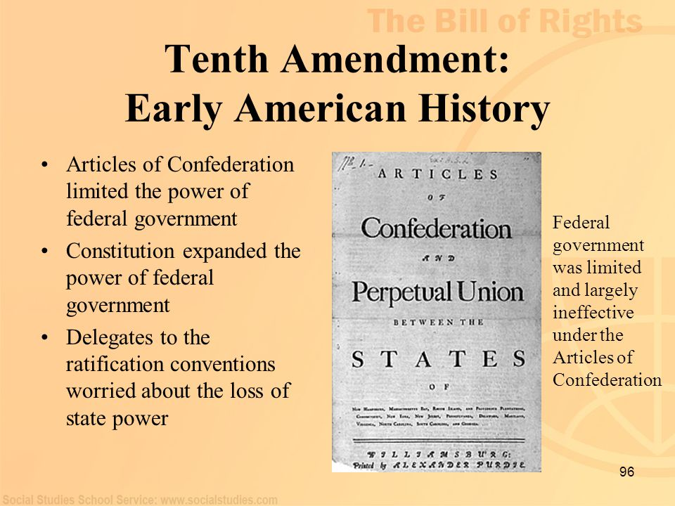 Tenth Amendment: Early American History