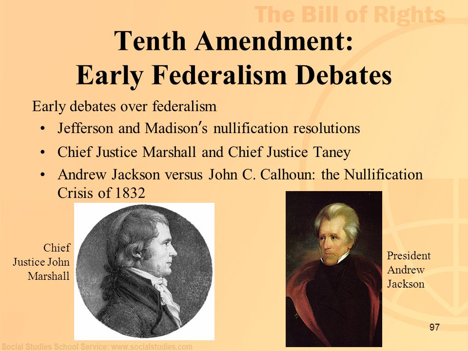 Tenth Amendment: Early Federalism Debates