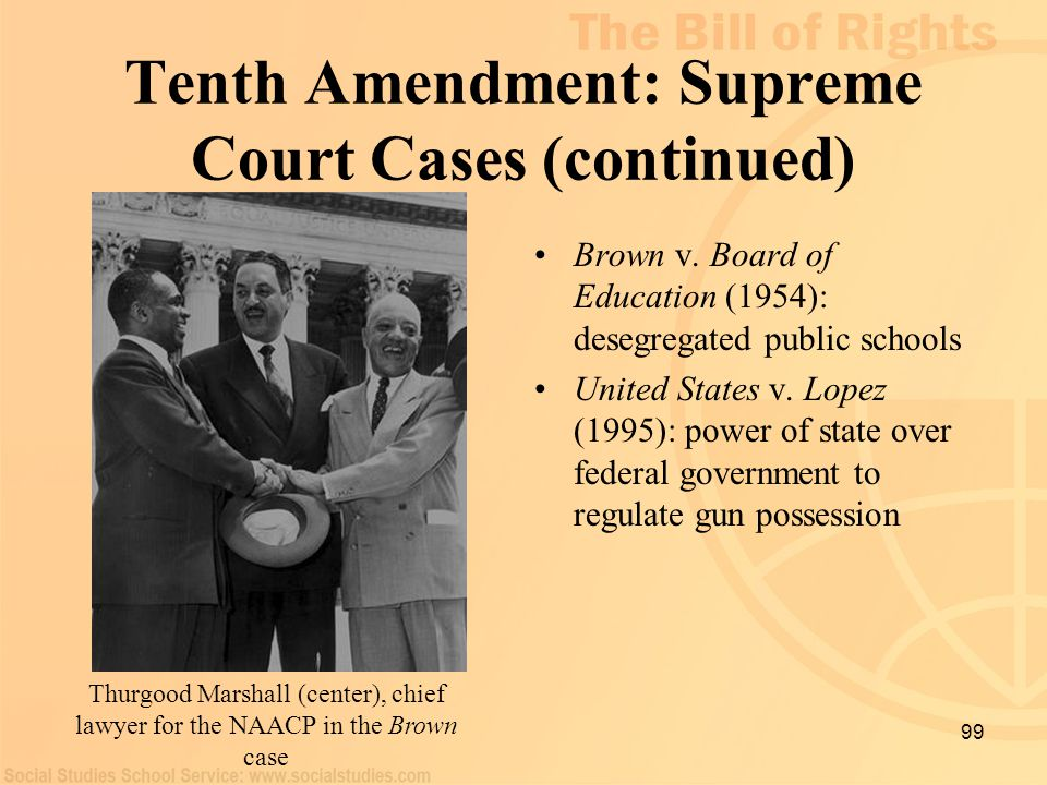 Tenth Amendment: Supreme Court Cases (continued)