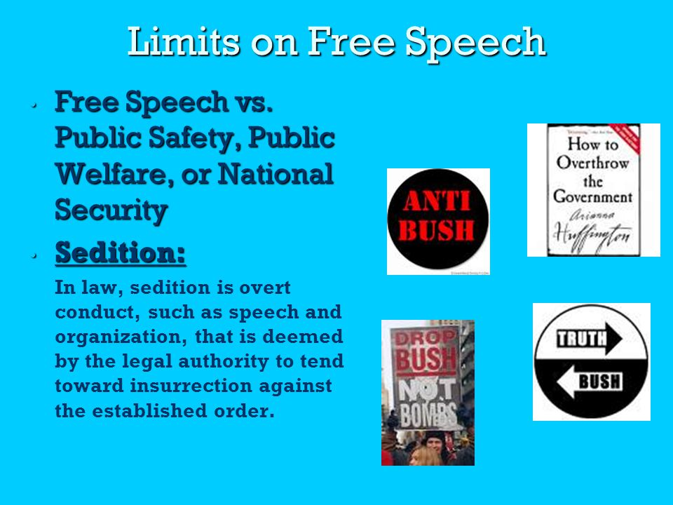 Limits on Free Speech.