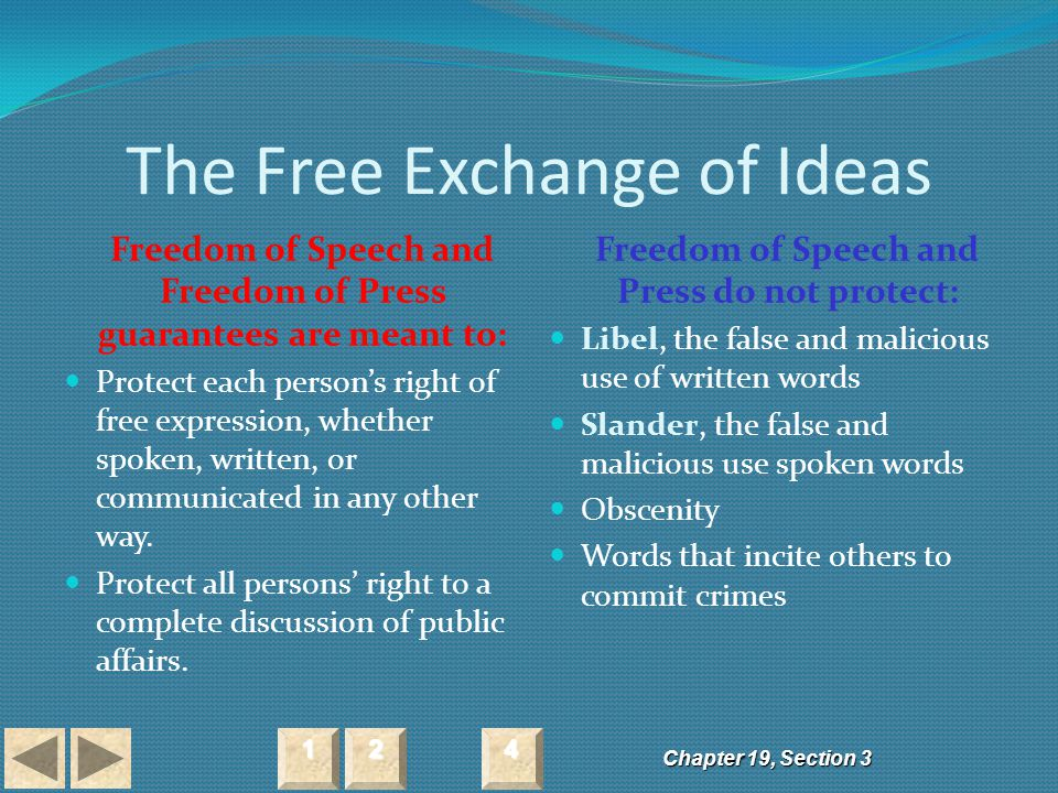 The Free Exchange of Ideas