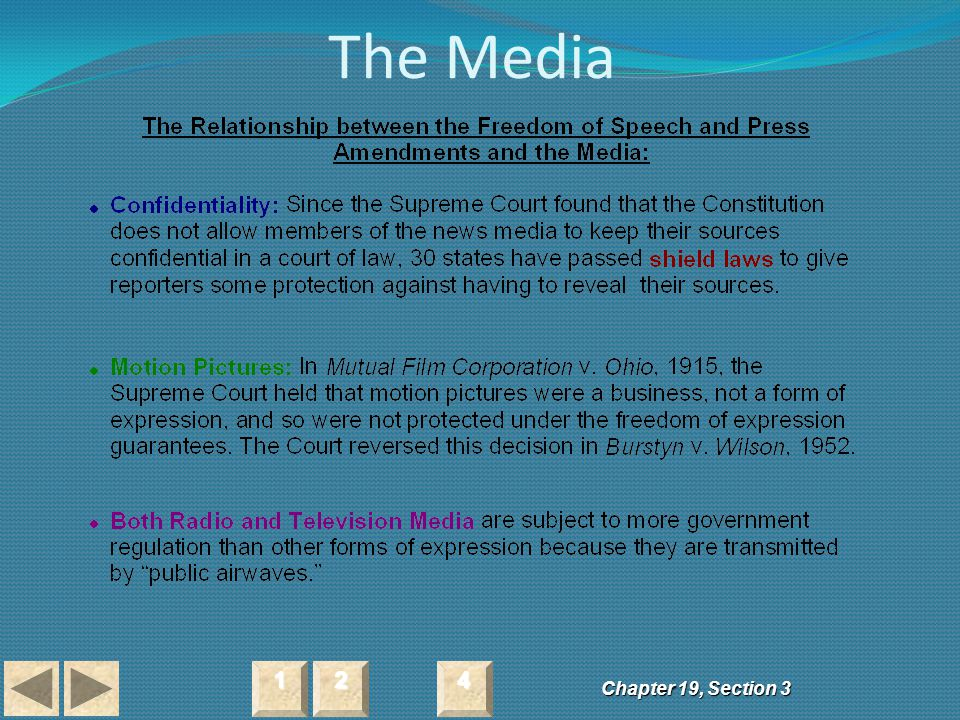 The Media 1 2 4 Chapter 19, Section 3