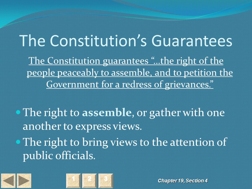 The Constitution's Guarantees